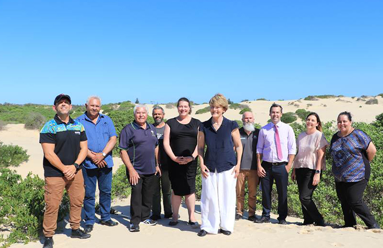Design team comprising representatives from,  Port Stephens Council, Worimi Conservation Lands, Worimi Local Aboriginal Land Council, Traditional Aboriginal Owners, Sand dune tourism operators, Transport companies, Destination Port Stephens,National Parks and Wilidlife Service, NSW Crown Lands and Birubi Point Surf Life Saving Club.