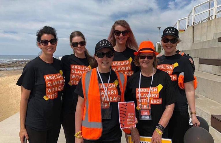 Port Stephens ladies - Emma O'Keefe, Prue Hughes, Jess Emms, Judy Mason, Louise Mason, Fiona Parker and Kerryn Shuker.