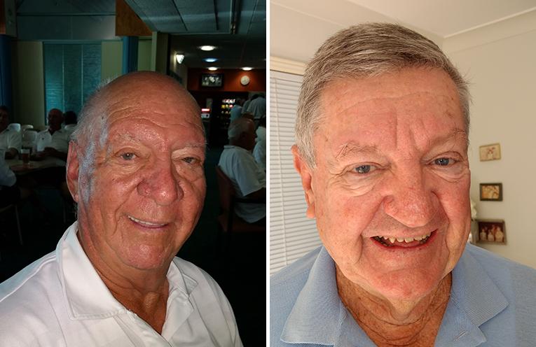Front nine winner Max Stephens. (left) Back nine winner John McKenzie. (right)