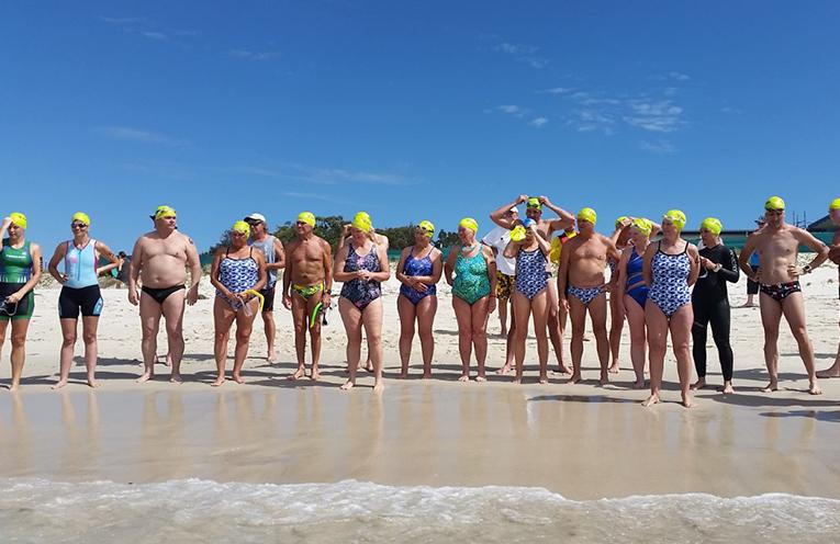 JIMMY'S BEACH: Myall Masters Open Water Swim.