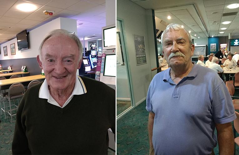 A Grade winner Col Clinch. (left) C Grade winner Frank Murphy. (right)