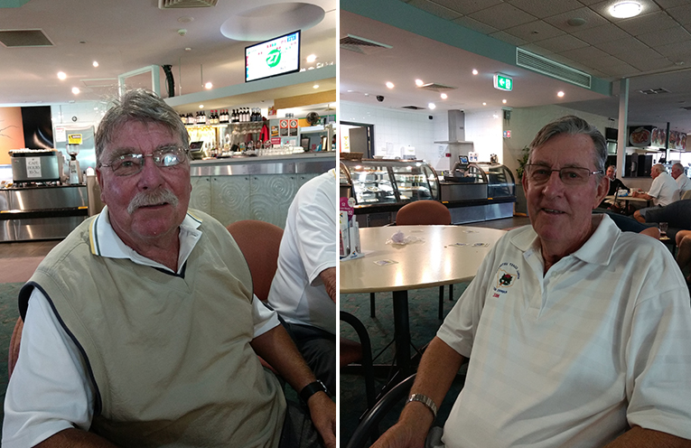 B Grade winner Bob Weir. (left) C Grade winner Neil Clifton. (right)