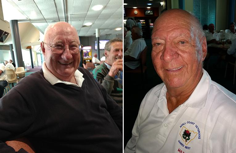 A grade winner Keith Hewish.  (left) B Grade winner Max Stephens. (right)