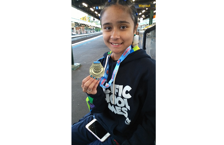 NSW STATE ALL SCHOOL CHAMPIONSHIPS: State Champion, Keira McGregor.