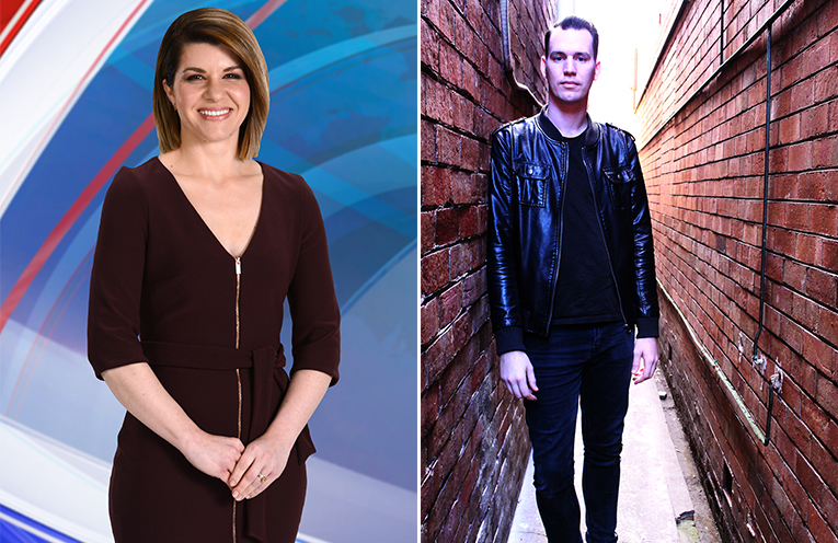 NBN News presenter Kate Haberfield will be hosting the Christmas Festival.   (left) Vocal performances will be headlined by 'The Voice 2018' Finalist Anyerin Drury.  (right)