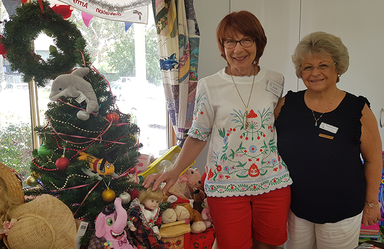 CHRISTMAS TREE APPEAL: Myall Art and Craft Centre's Janette Coppock and Diane Taylor.