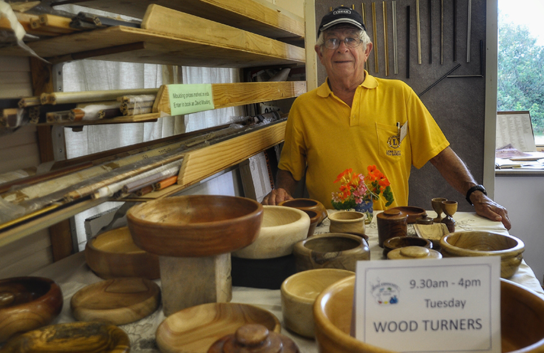 MYALL ART AND CRAFT CENTRE: Woodturning Group's Peter Webb.