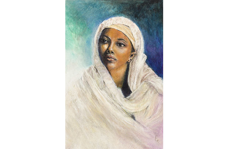 The special artwork 'Hope' currently available for purchase to contribute to the fundraising for Ovarian Cancer.