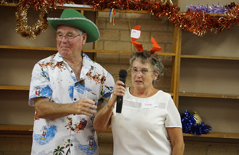 COMMUNITY CHRISTMAS LUNCH ORGANISERS: Joe and Sue Douglas.