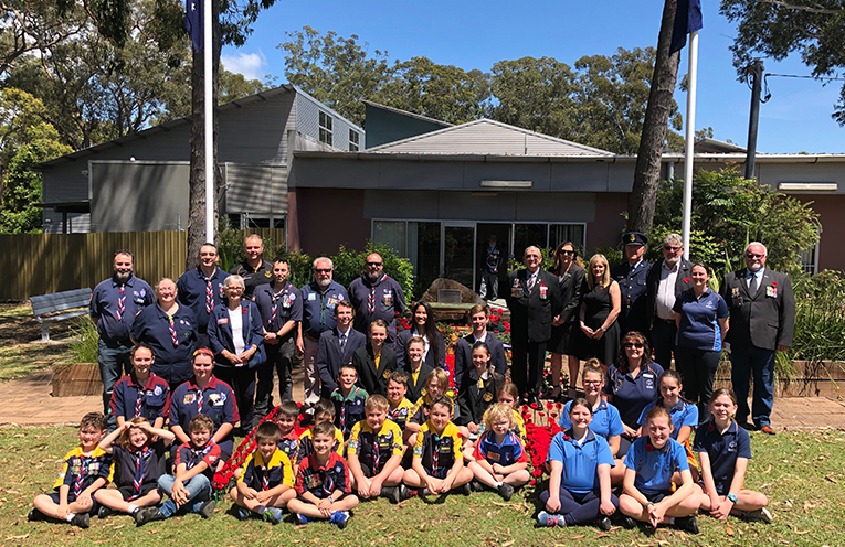 Special guests and attendees at Medowie Sub Branch RSL's ceremony.