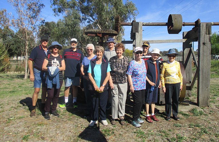 Members of the Fingal Bay Probus Club enjoying themselves on their trip to Nundle. Photo by Lynn Moffitt.