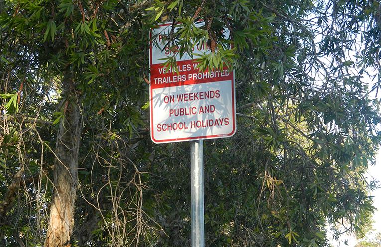 TEA GARDENS PARKING TARGETED: Weekend Restrictions in Marine Drive Boat Ramp Car Park.