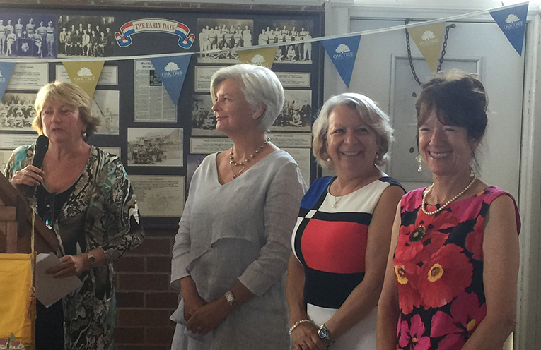 HUNTER CWA DONATION:  Kathy Gillespie, Roz Meehan, Maria Harder and Leslie Lane.