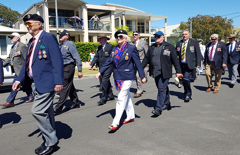 ANZAC PARK: Remembrance Day in Tea Gardens.