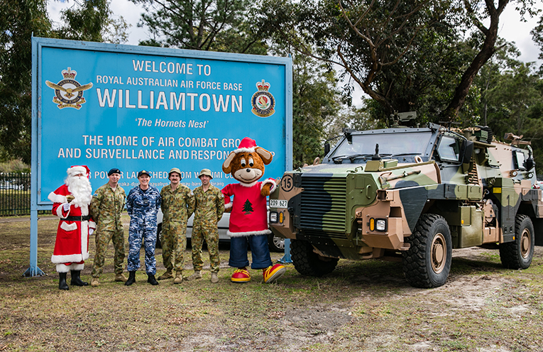 Santa and his friends from the Williamtown RAAF base.