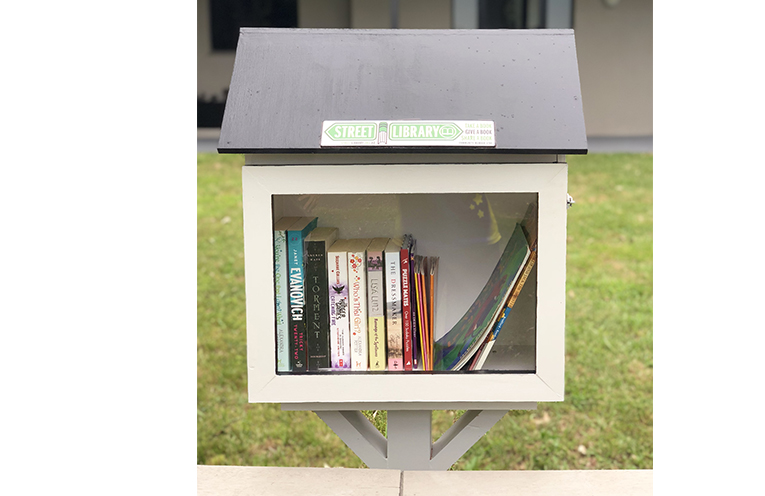 The new Street Library at Raymond Terrace, at a home across the road from Riverside Park.