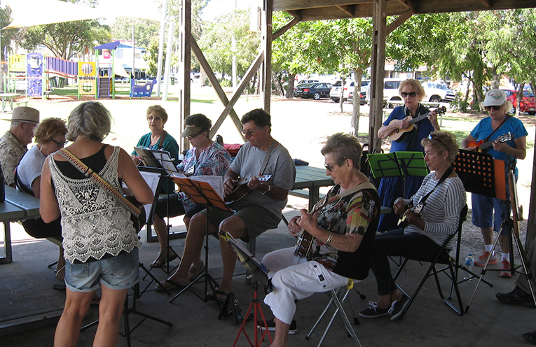 The 'Lemon Eukalypts' hitting the high notes at the LTP waterfront recently.