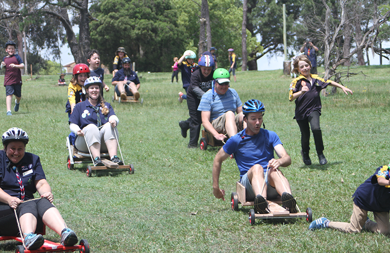 The adults only race was a hit with young and old.