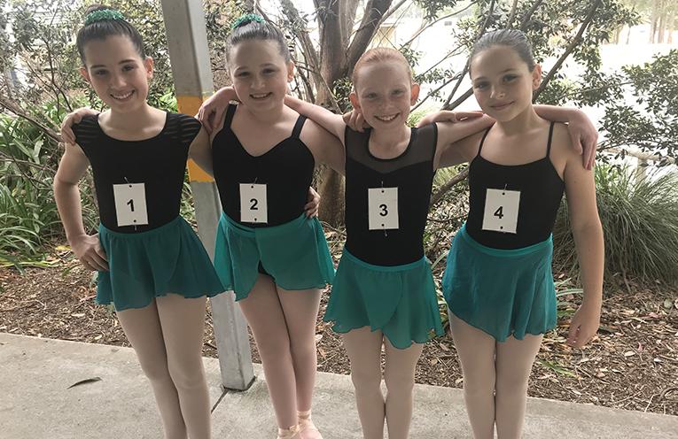 Ebony Deguara, Scarlett Darcy, Dixie Conlan and Tahnee Gannon - silver medal ballet.