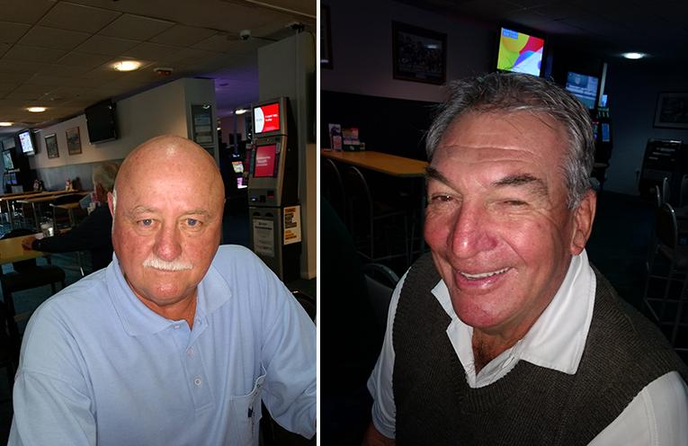 A Grade winner John McDonald. (left) B Grade winner Rob Simmons (right)