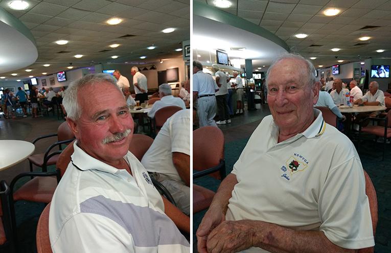 A Grade winner Fred Bennett. (left) C Grade winner John Warne. (right)