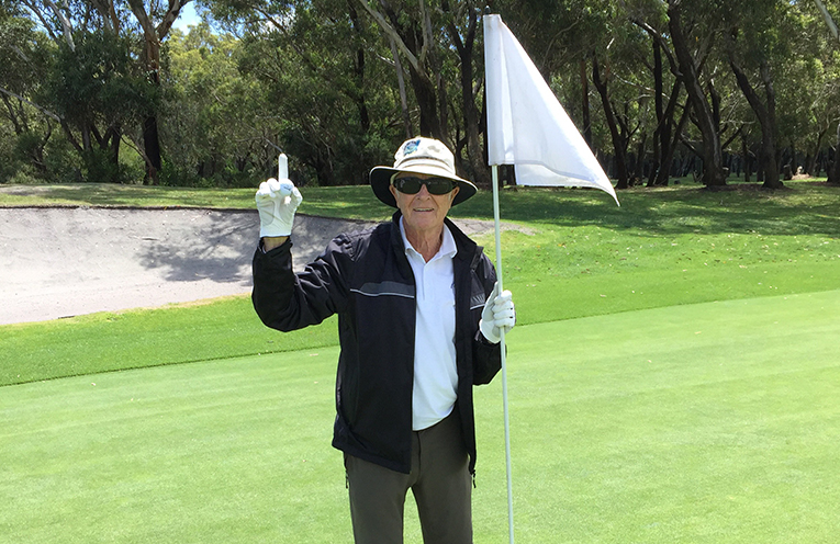 Ron Stuart who had a Hole in one shot on the 10th hole