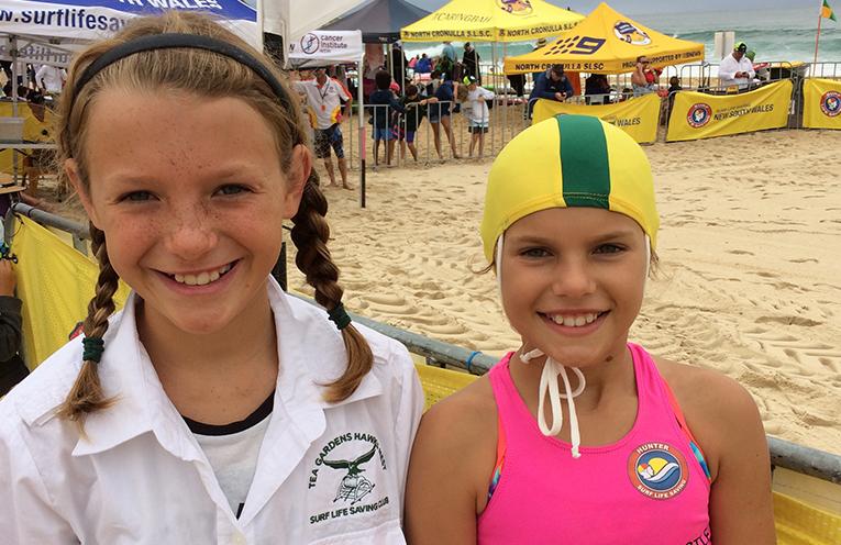 TGHN SURF CLUB: Nippers, Ella and Sophie Howarth.
