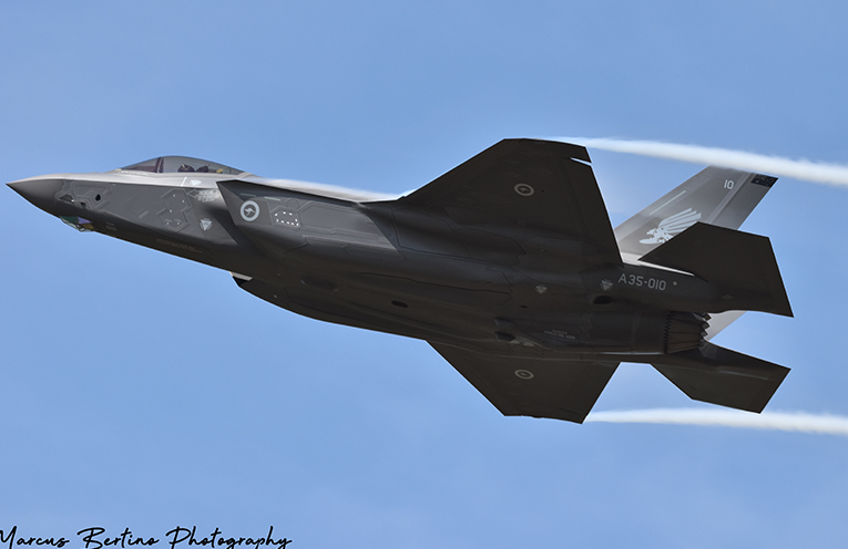 The flyovers of the new F-35A Joint Strike Fighter Jet included the best vantage points of Newcastle and Port Stephens.