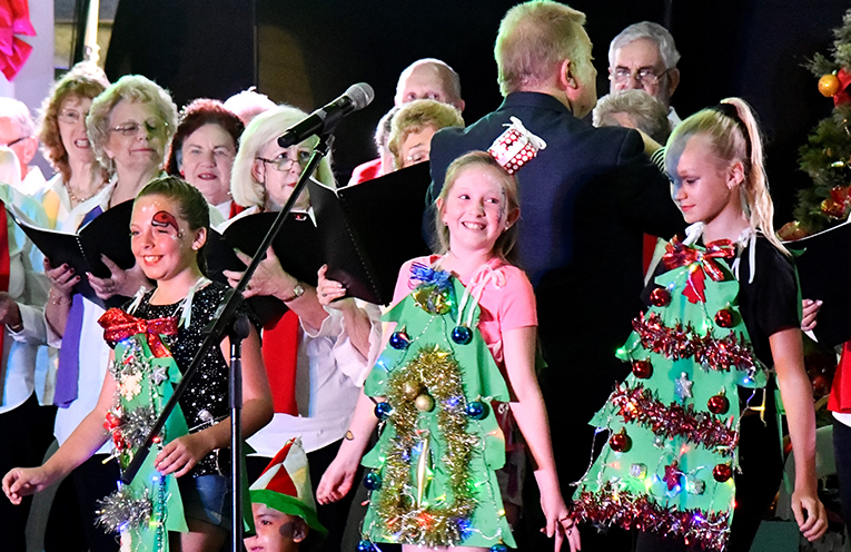 TEA GARDENS PRIMARY SCHOOL: Myall Coast Community Carols performers.