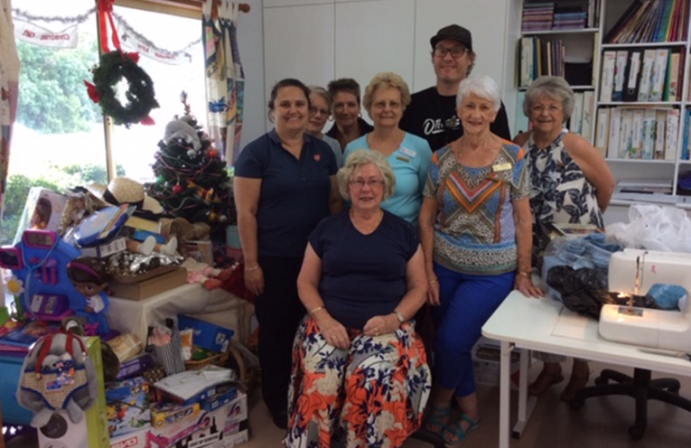 SALVATION ARMY CHRISTMAS APPEAL: Tracey Isles, Jenny Love, Sue Burns, Lyn Ridge, Ben Petterson, Norma Sedge, Diane Taylor,Leona Clissold (seated).
