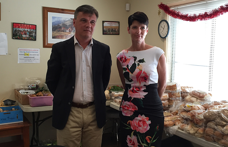 Rev Adam Cook and Kate Washington (Local MP for Port Stephens)