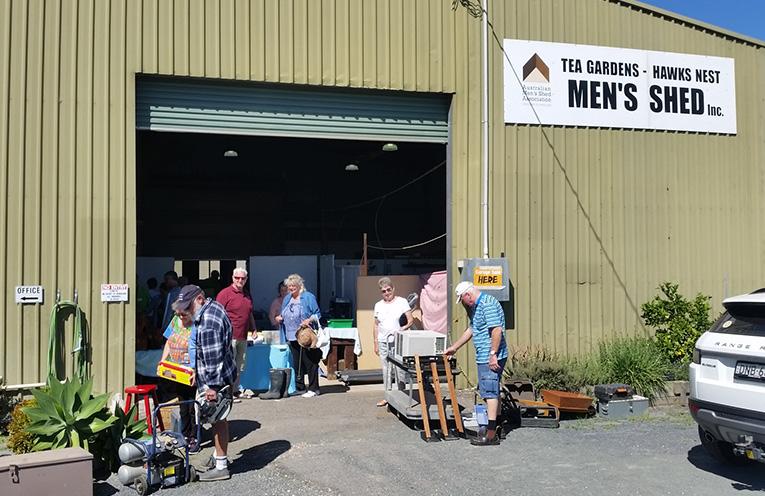 TEA GARDENS MEN'S SHED: Garage Sale Hunters.