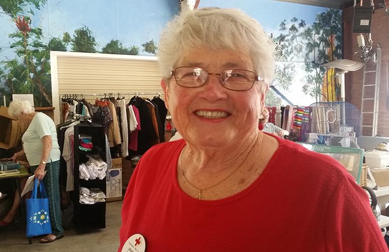 MARKET DAY VOLUNTEER: Red Cross' President Jennifer Wenham.
