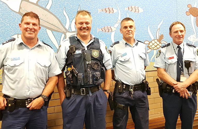 POLICE FORUM: Senior Constable Dave Coyle, Constable Trent Moffat, Senior Constable Rob Wylie and Chief Inspector Tony Townsend.