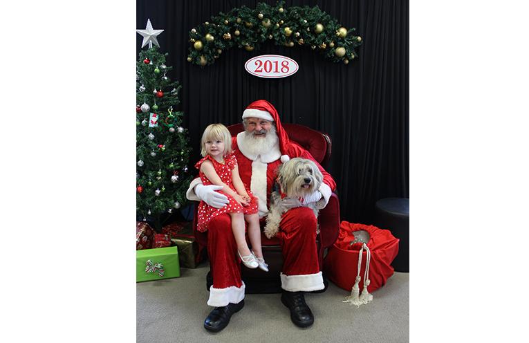 Skye Lawrence and her dog Ashers.  Photo Credit - Aaron McGowan