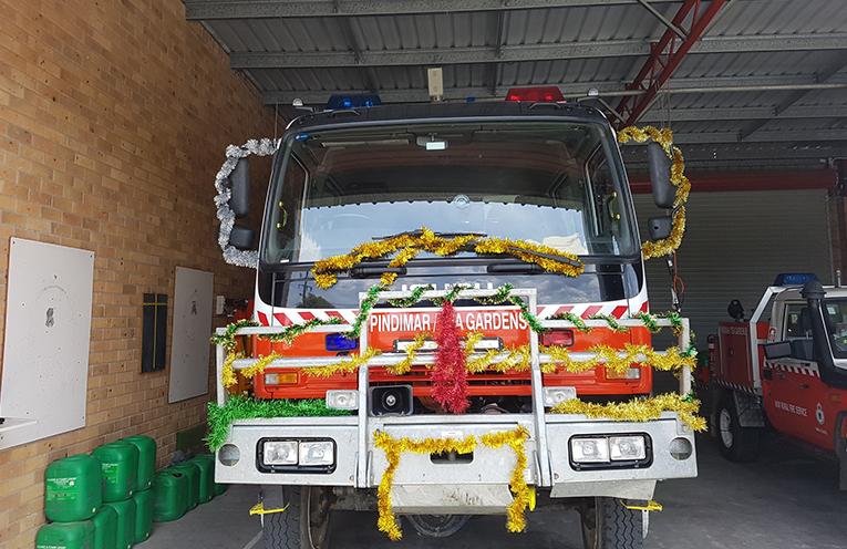 PINDIMAR/TEA GARDENS RFS: Santa's Truck.