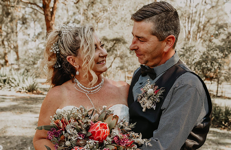 Newlyweds Jodi Belford and Paul Swain.