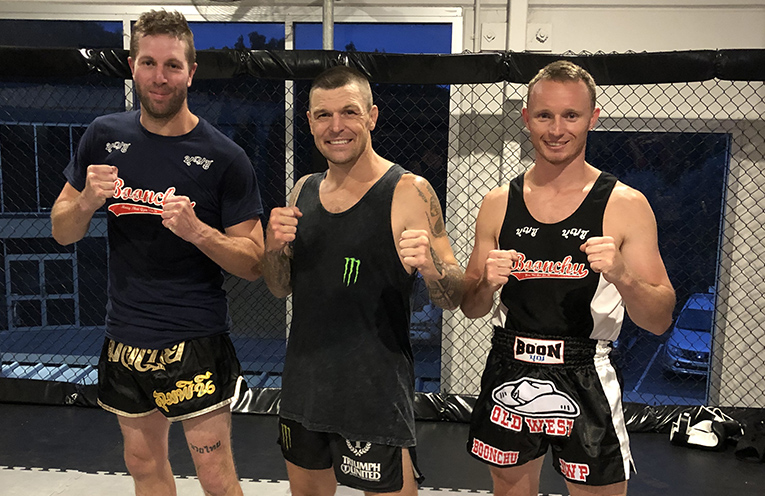 Michael Thomas and Rick Sarmais of Personal Touch Fitness with John Wayne Parr The Gunslinger.
