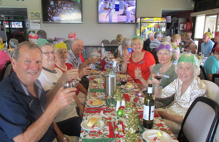 A toast to a Happy Christmas. Photo by Lynn Moffit.