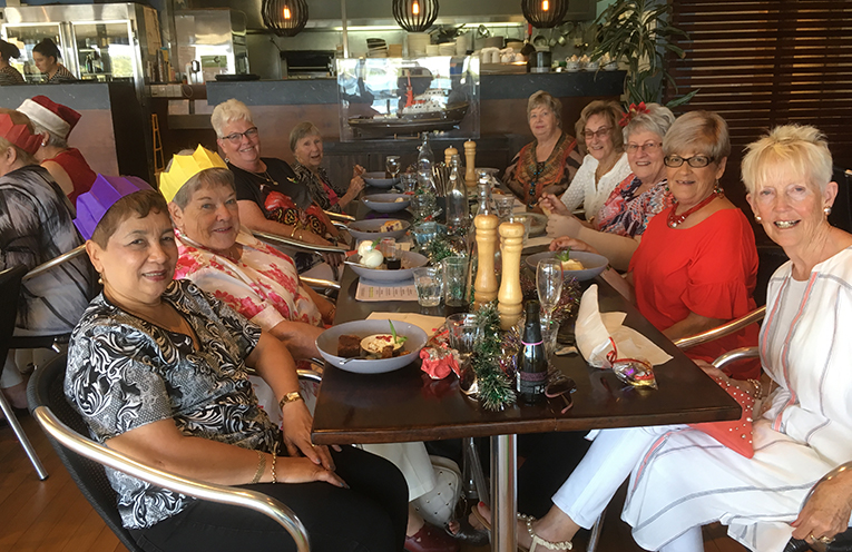 Ladies of the Auxiliary at Mumm's for lunch.