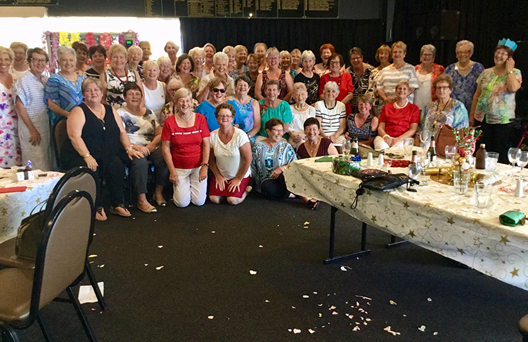 Fingal Women's Bowls Club celebrating their year of success and the Christmas season.