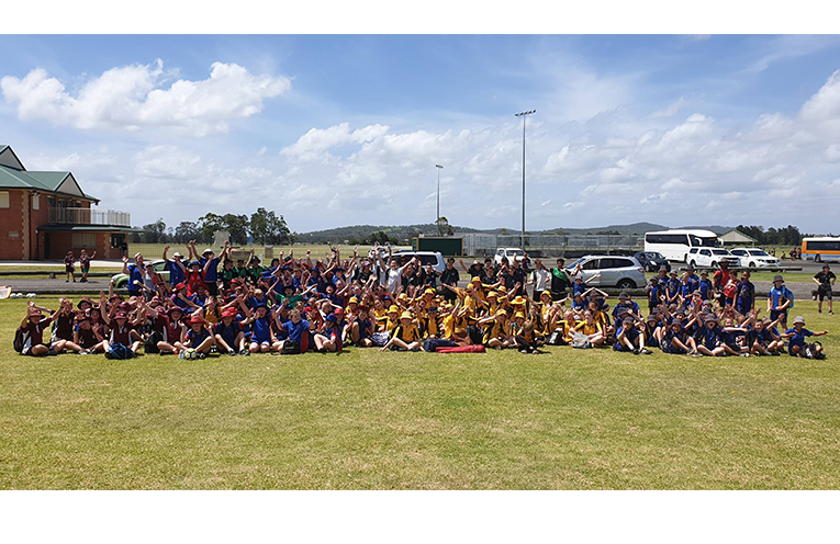 Stage 3 students from Medowie, Wirreanda, Grahamstown and Irrawang primary schools.