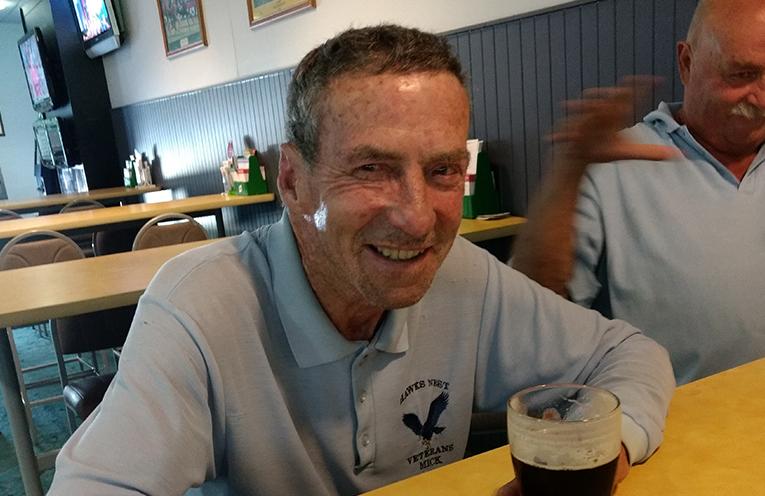 Front nine winner Michael Talty.