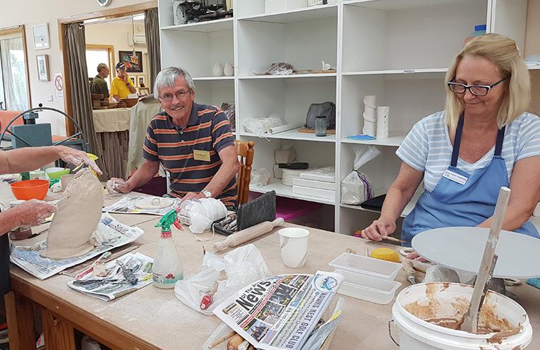 MYALL ART AND CRAFT CENTRE: Ian Morphett and Wendy Thompson.