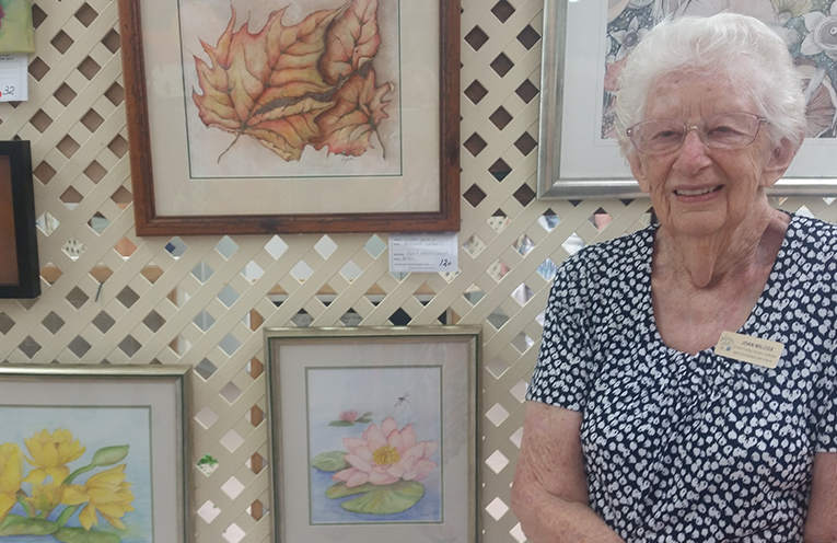 ART AND CRAFT CENTRE FOUNDER: Joan Wilcox.