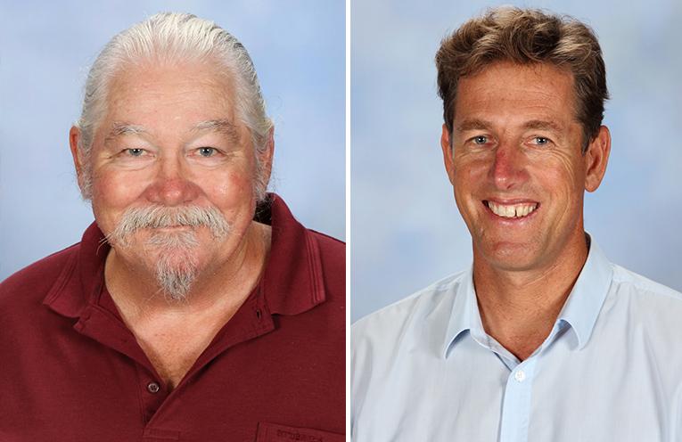 Shane Nunan - Head Teacher Science. (left) Andrew Watt – Relieving Head Teacher Maths. (right)
