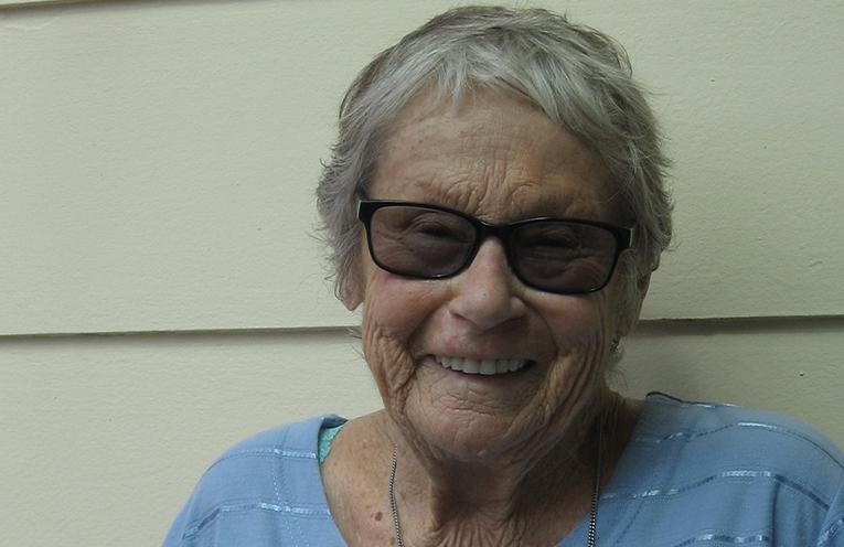 Doreen Bradley back home after ten weeks in hospital.