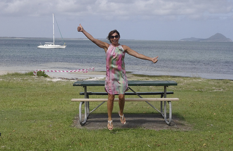 Ina George is jumping for joy over the news that George Reserve will finally get a revamp. Photo by Marian Sampson.