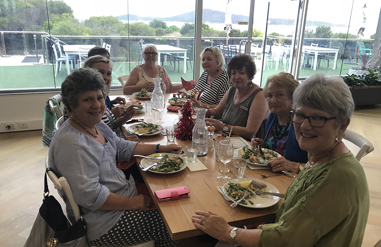 Tomaree Community Hospital Auxiliary at morning tea hosted by the Hospital staff.