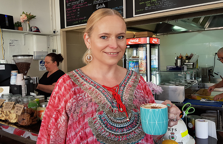 FIONA'S CAFE: Owner,Fiona Mobbs.